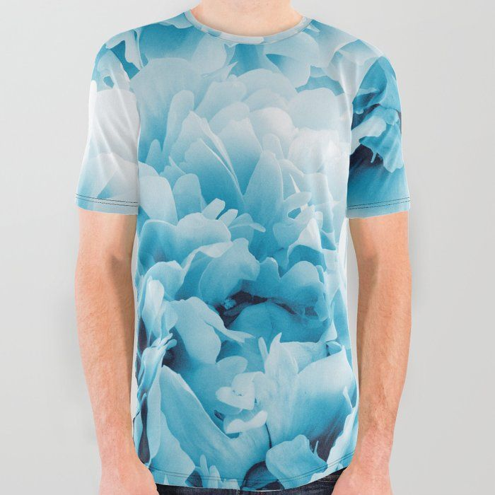 747fb01f79ed Blue Peonies Dream #1 #floral #decor #art #society6 All Over Graphic ...