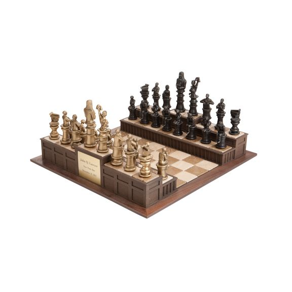 Chess set for legal professionals