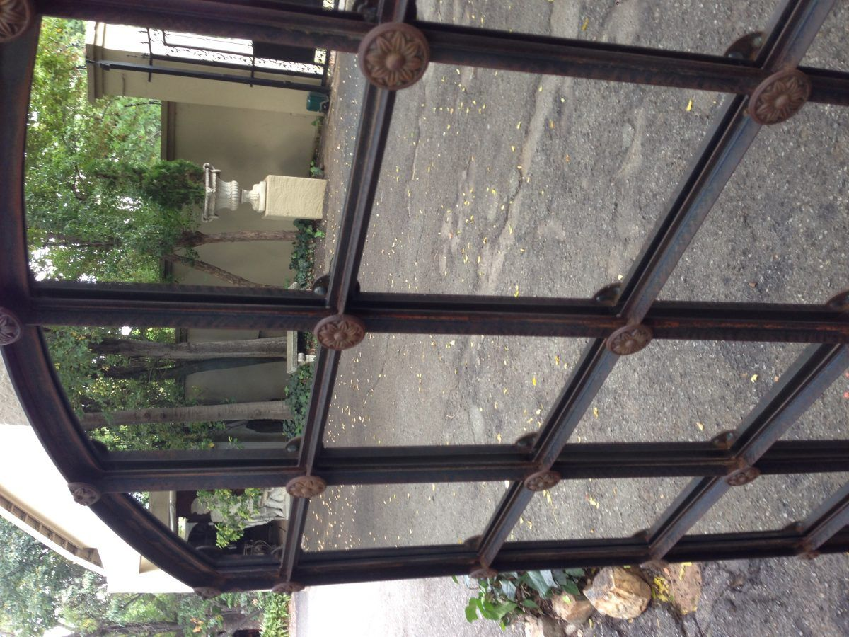 Wrought Iron Arched Window Pane Mirror Rust The Crown
