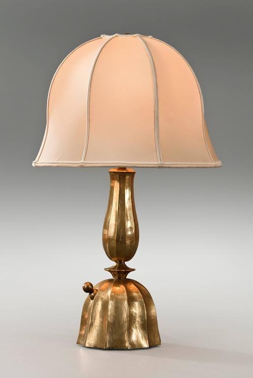Josef Hoffmann Wiener Werkestatte Vienna Secession Pair Brass Table Lamps 2 Vintage Table Lamp Table Lamp Brass Table Lamps