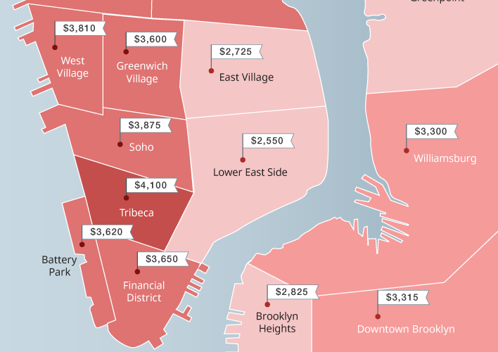 New Maps Show The Insane Rent Prices Across Nyc Neighborhoods With Images Nyc Neighborhoods Rent In Nyc Rent Prices