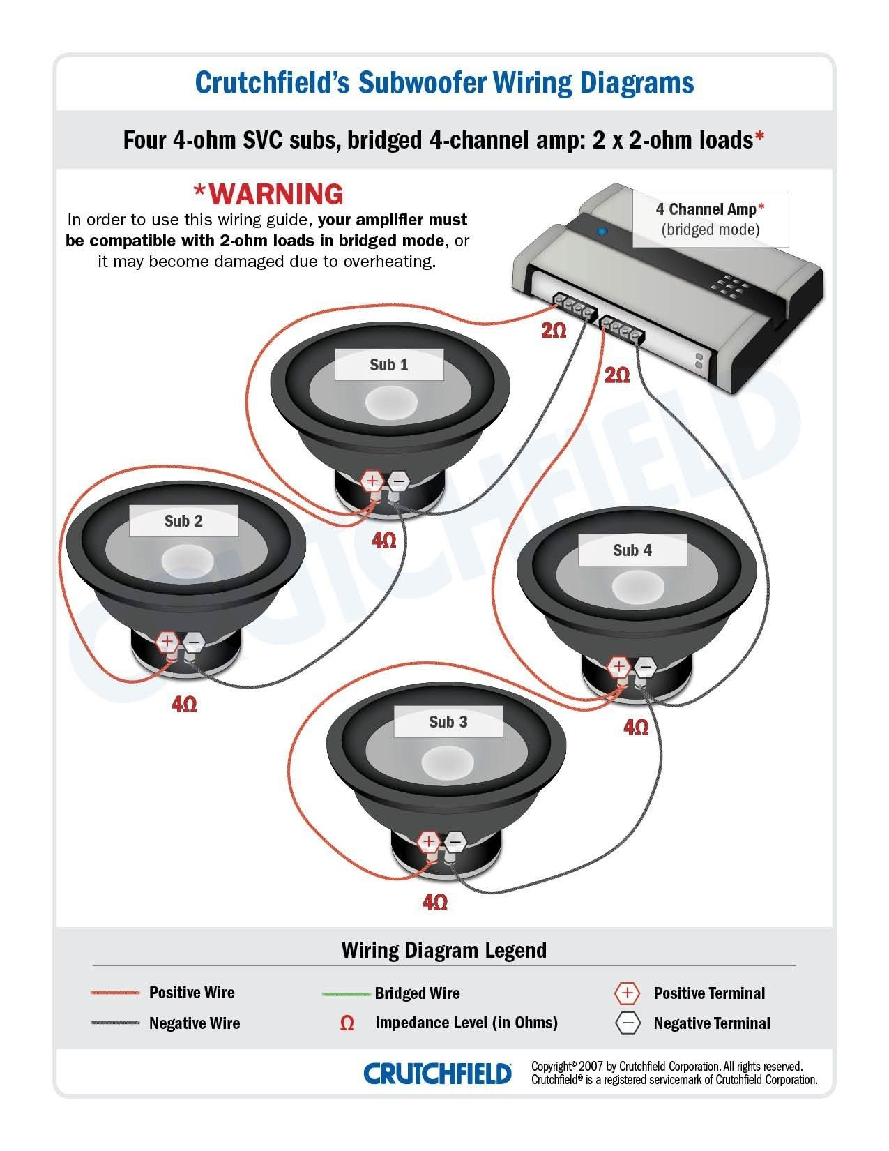 New Wiring Diagram For Car Stereo Subwoofer Subwoofer Wiring Subwoofer Car Stereo