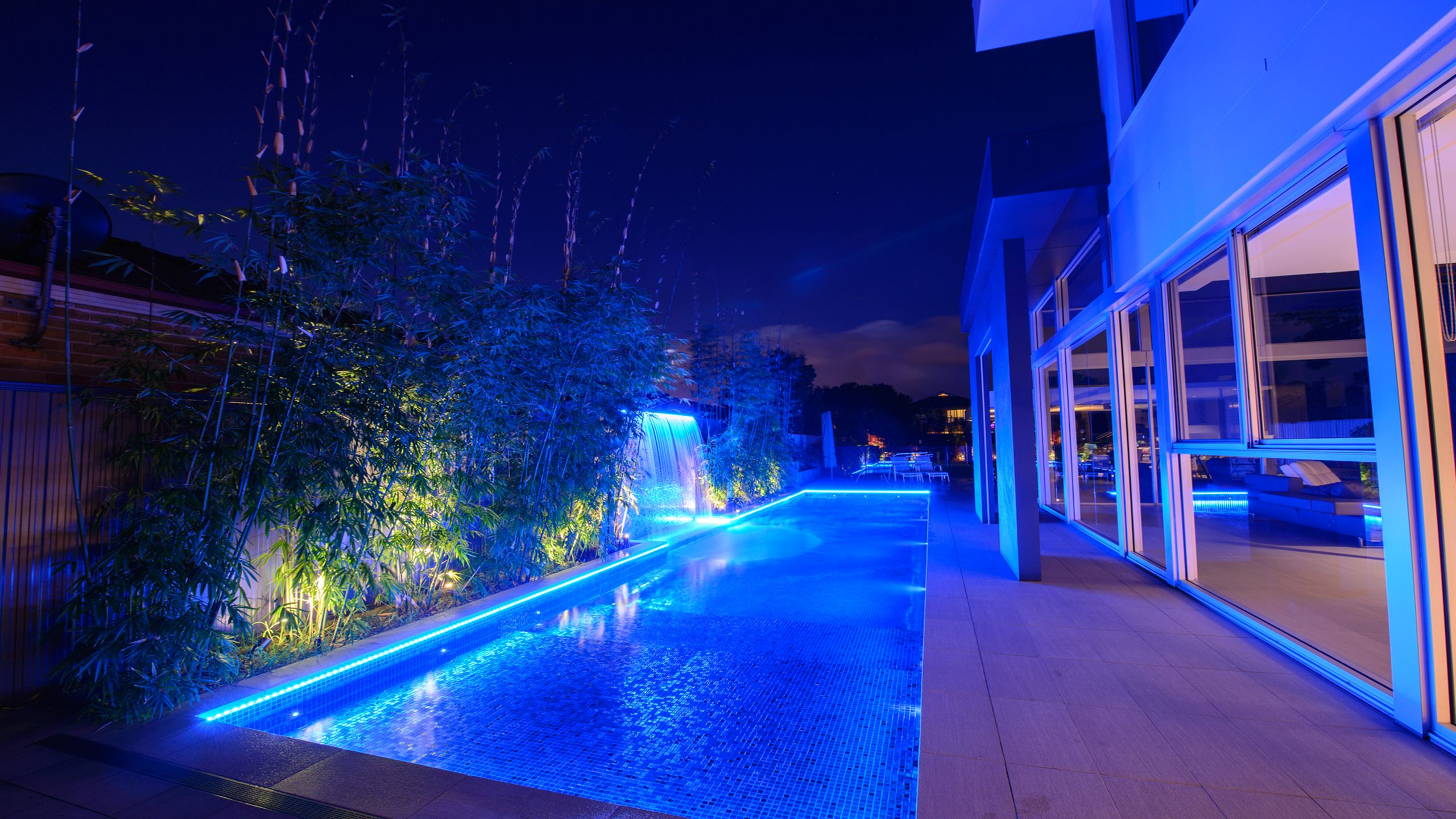 led pool light bulbs are more efficient than incandescent bulbs, saving energy and money. Led Perimeter Strip Lighting Pool Light Swimming Pool Lights Swimming Pools