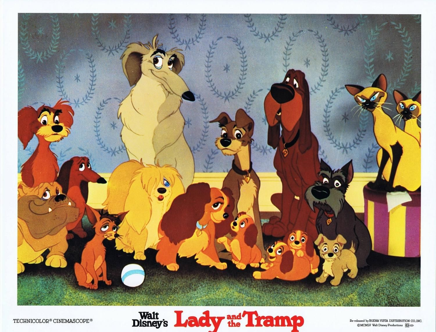 Lady And The Tramp 11 X 14 Lobby Card Re Release Lady And The Tramp Lobby Cards Walt Disney Movies