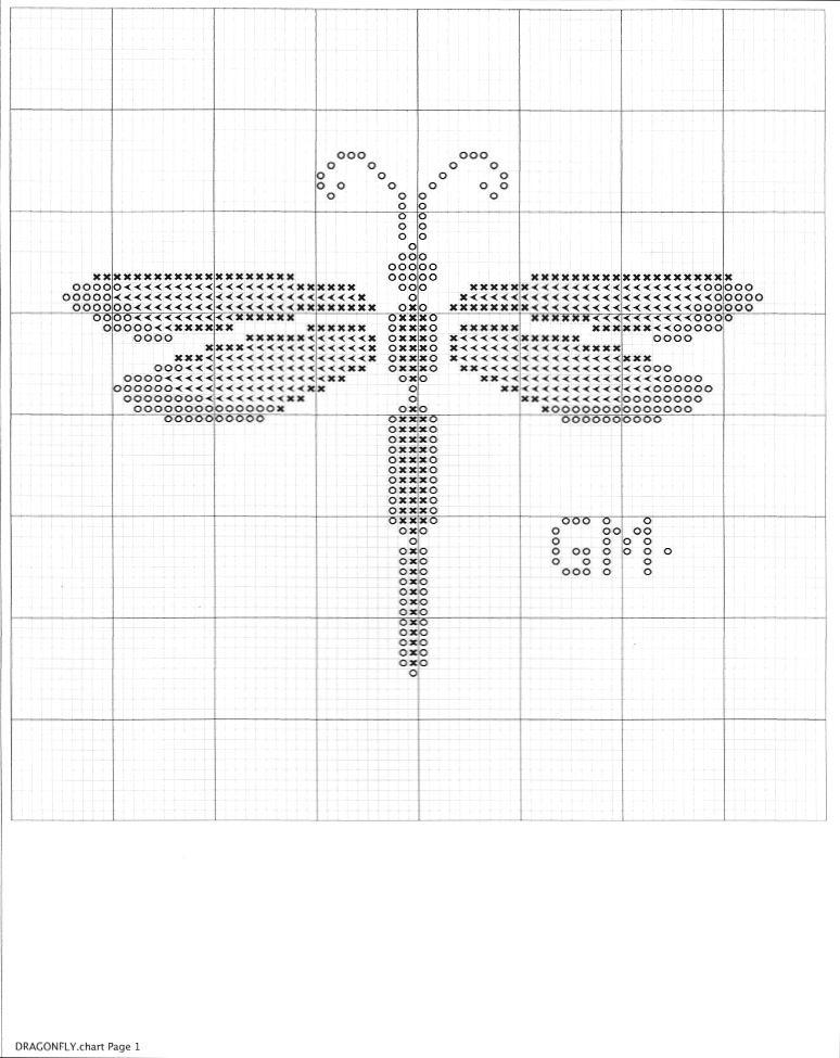 Dragonfly cross stitch pattern | My cross stitch patterns free ...