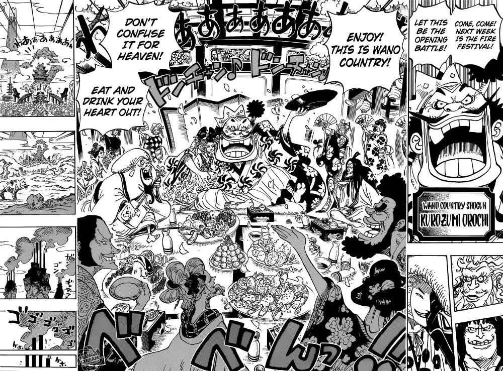One Piece Chapter 929 Kurozumi Orochi Wano Country Shogun Page 15 Manganelo Com In 2020 One Piece Manga Manga One Piece Chapter Wan pīsu) is a japanese manga series written and illustrated by eiichiro oda. one piece chapter 929 kurozumi orochi