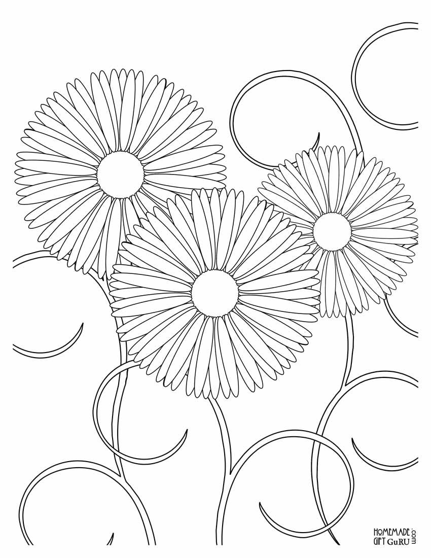 Right Click On This Flower Coloring Page Then Choose Print Picture