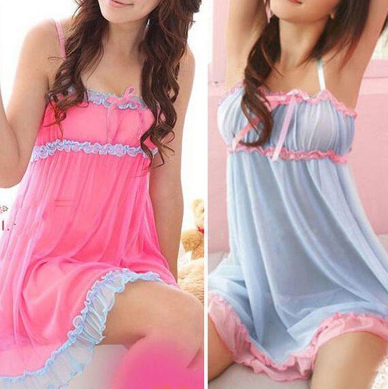 Women\'s Yarn Lace lingeries Strappy Sleepwear Nightwear Babydoll ...