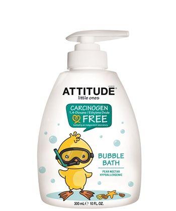 ATTITUDE Blubble Bath Pear Nectar - sabonete infantil, hipoalergênico, feito com ingredientes naturais. É biodegradável e tem fragância natural de pêra. Vende online, farmácias e supermercados dos Canadá, EUA, lojas de produtos naturais Europa. Preço Médio: US$10. #cosmeticdetox #sabonete #kids #saboneteinfantil #bubblebath #savon #sapone #natural #nontoxic #biodegradavel #crueltyfree #vegan #attitudeliving
