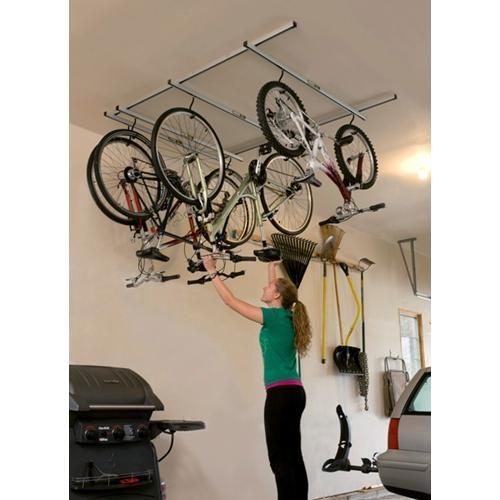 Cycleglide Ceiling Mount Bike Rack Garage Organization