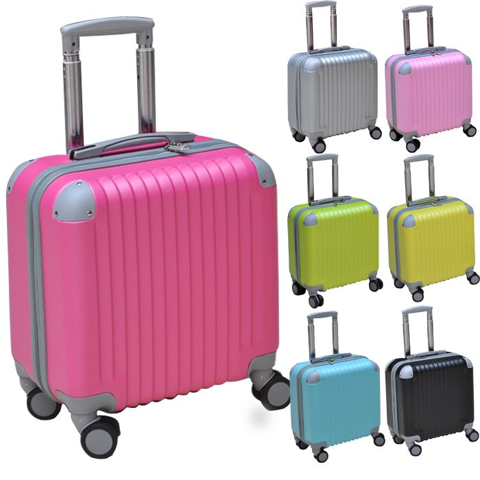 Free shipping women and men ABS universal wheels trolley luggage ...