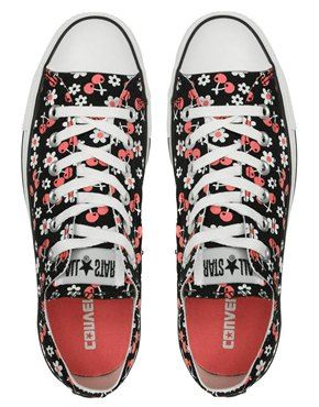 Cherry and flowers Converse