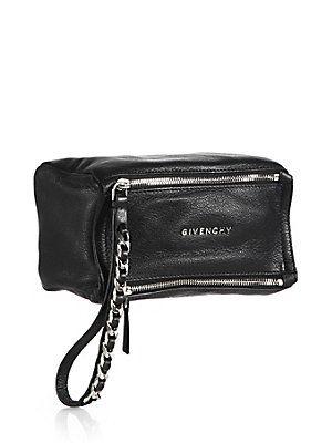 ba4cc1b4dd16 Givenchy Pandora Wristlet Pouch - Black