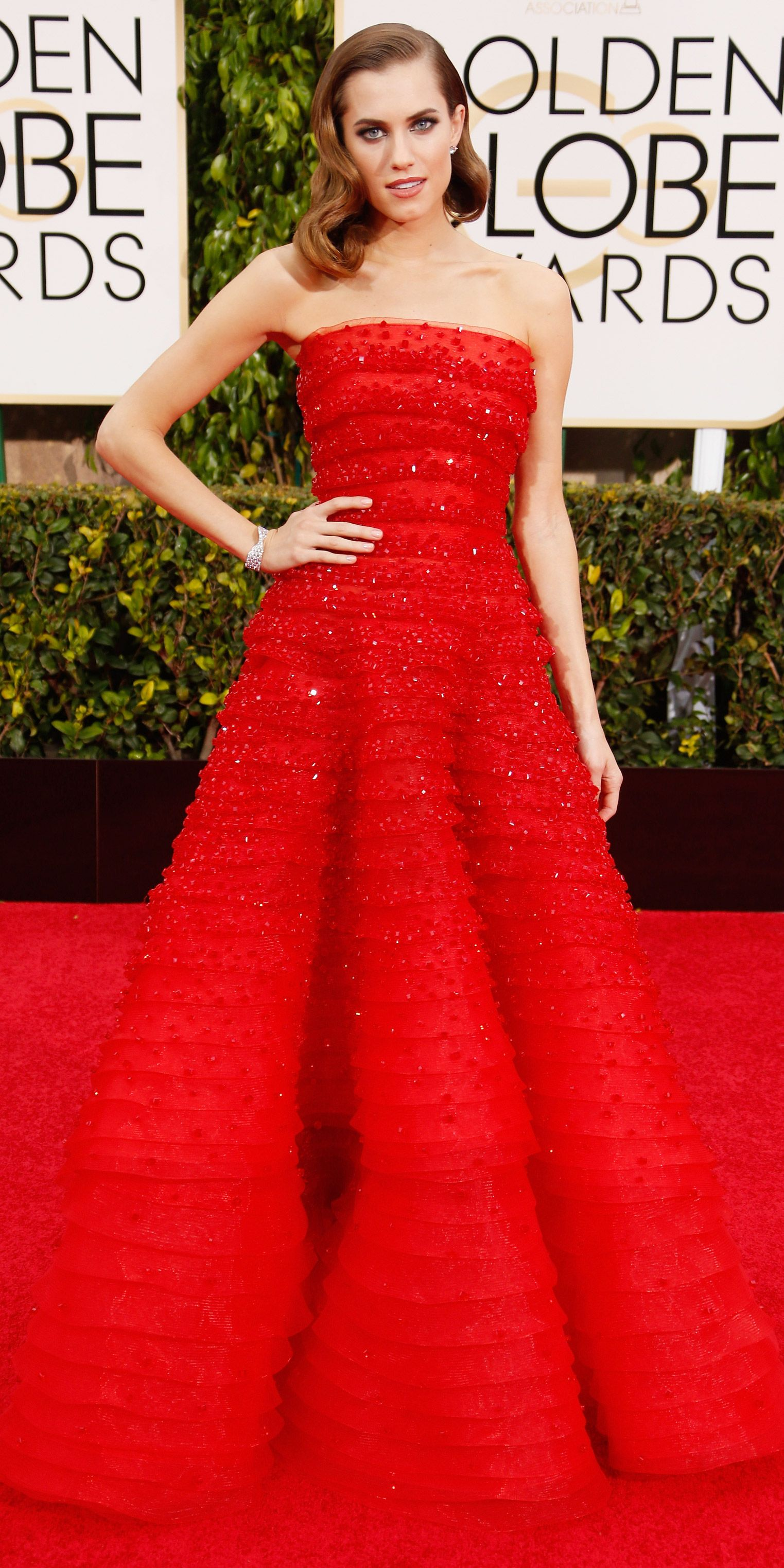 Allison Williams's Red Carpet Style - In Armani Privé, 2015 from InStyle.com