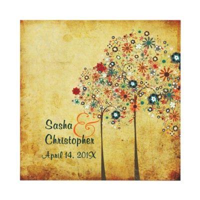 PixDezines Vintage Autumn Blooms Invites by custom_stationery