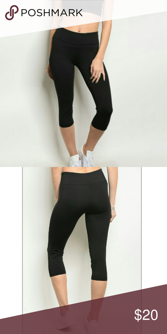 bc0fcf4c97971 Black athletic pants Capri fit Atlantic Heights come to the knee brand new  Love Culture Pants