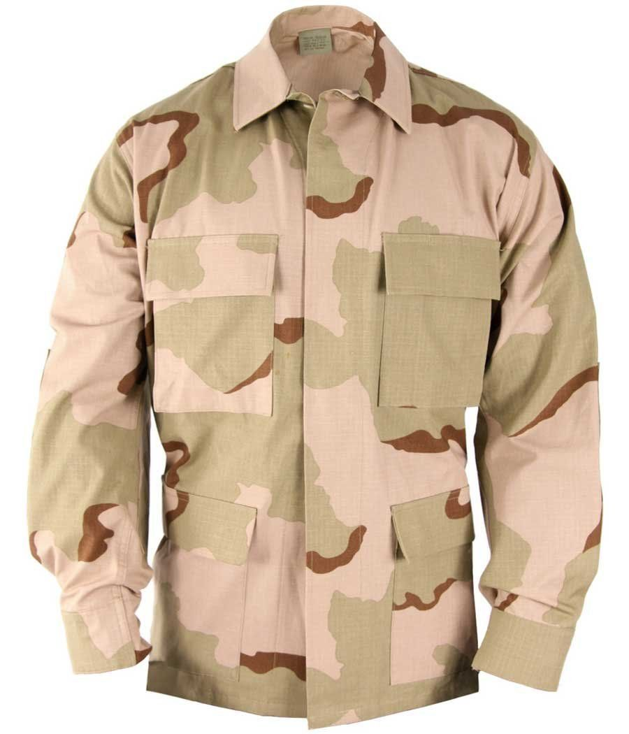 Amazon.com: BDU Shirt- Coat Tri-Color Desert Camouflage Size Small Regular