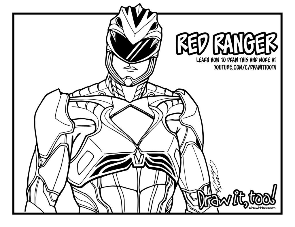 Coloring pages for power rangers - Red_power_ranger_coloring_page 1024x791 Jpg 1024 791 Power Rangers Coloring Pages