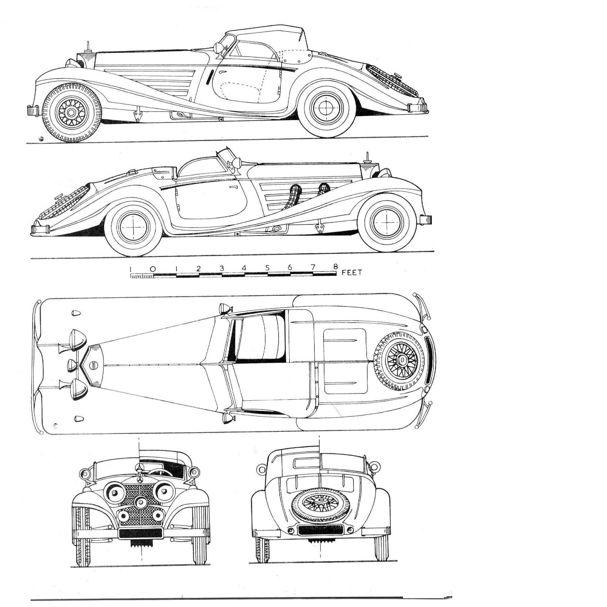 Mercedes Type 540k Roadster