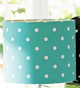 POTTERY BARN PB TEEN DOTTIE POLKA DOT TABLE LAMP SHADE POOL BLUE ...