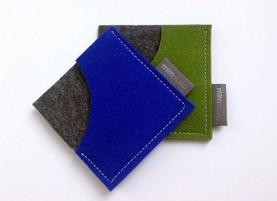Square card case in pure wool felt business card holder unisex square business card case pure wool felt business card holder credit card case colourmoves