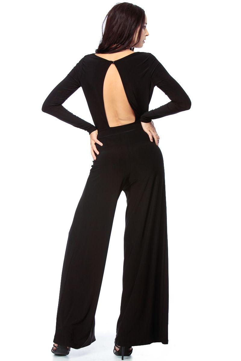 c33615f2095f2 Black Glam Palazzo Jumpsuit   Cicihot Top Shirt Clothing Online Store  Dress  Shirt