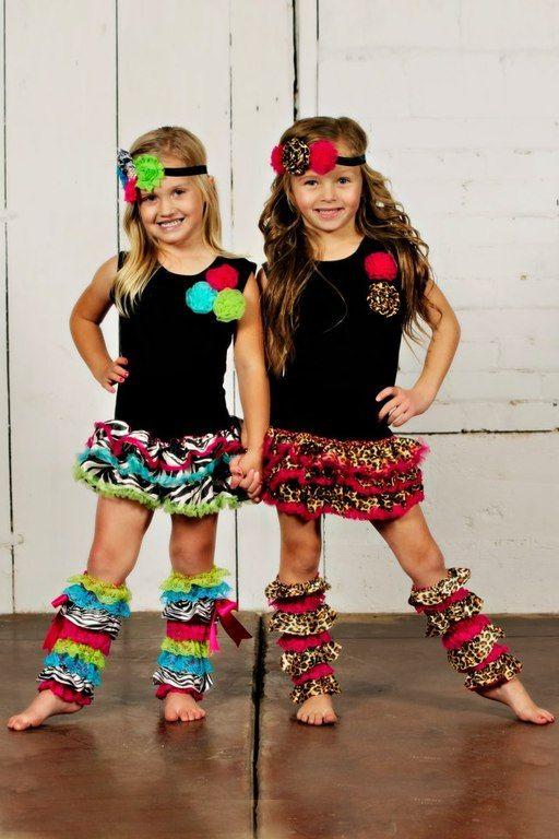 Animal Print Dresses Cute Dance Costume Work Kids
