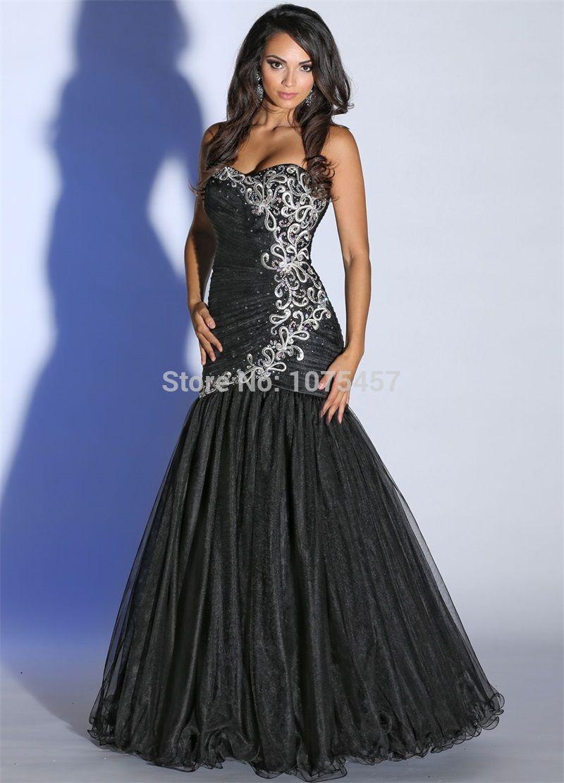 Click to buy ucuc latest design mermaid black prom dress