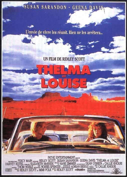 Thelma & Louise Movie Poster #2 | Thelma louise, Old film posters, Movie posters