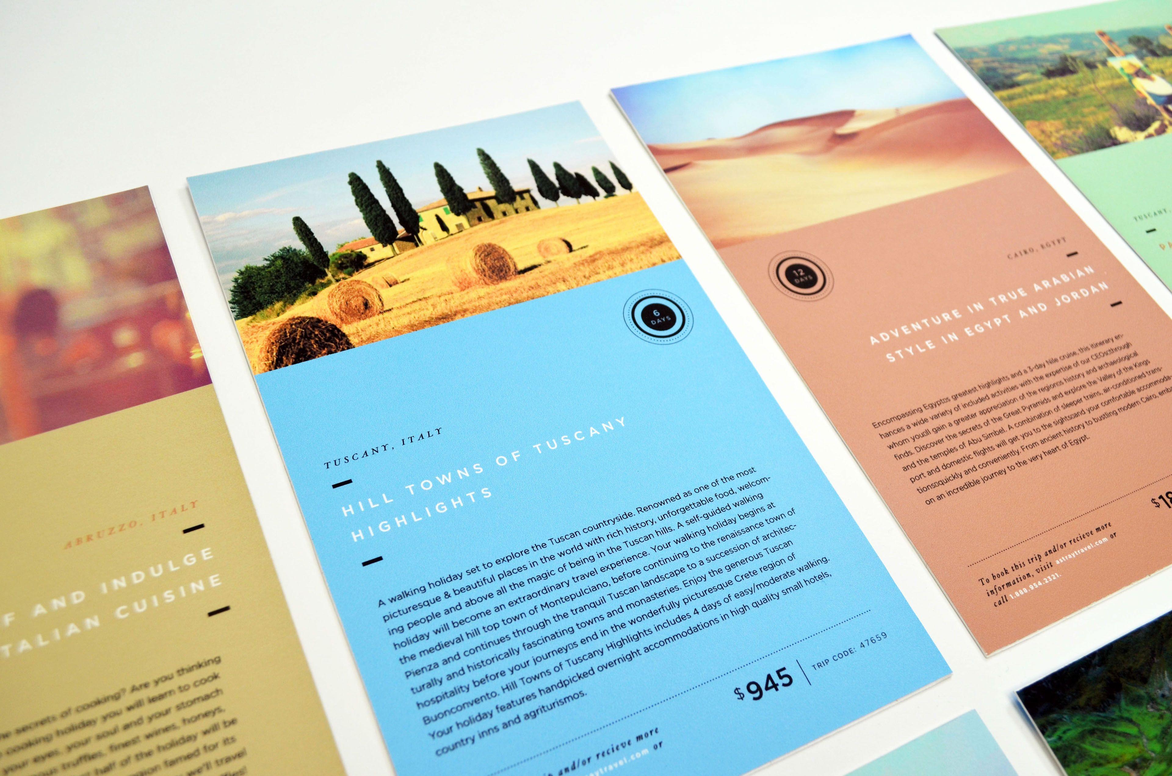 astray travel co brochure design on behance bits of design