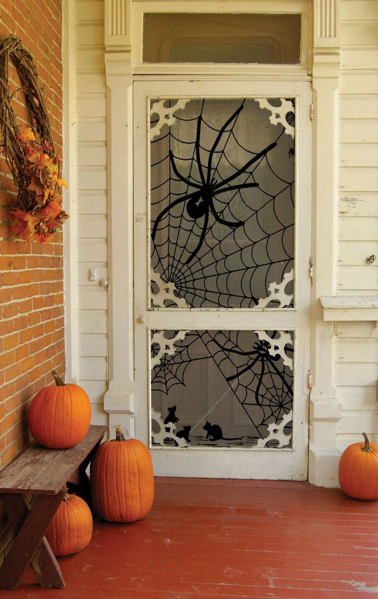 Tangled Web Door/Window Panel #halloweendoordecorations