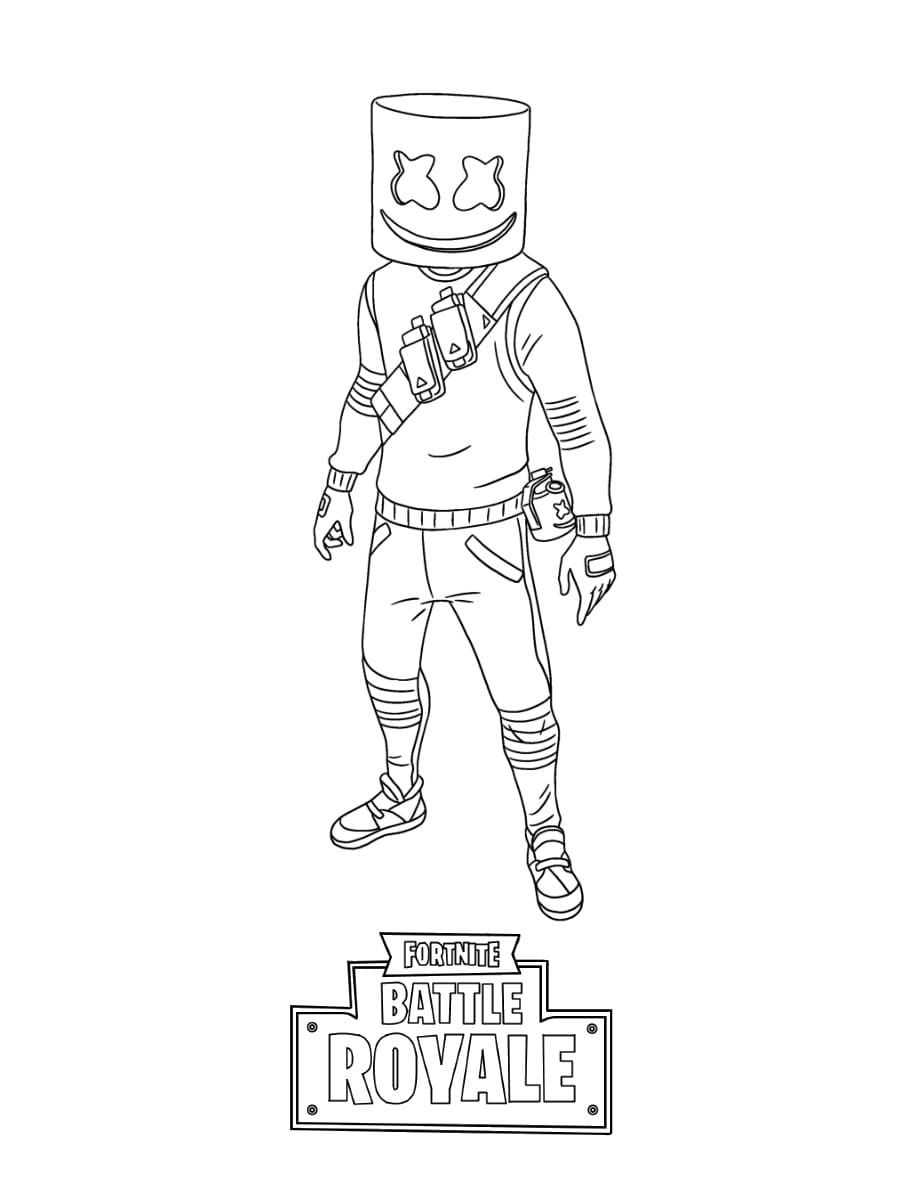 Fortnite Coloring Pages Aura Background