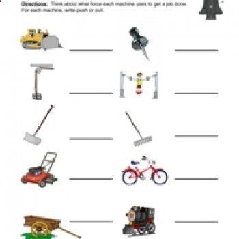 science worksheet, physical science, force, motion, energy, movement