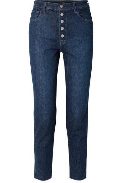 1833d38f J Brand   Heather cropped high-rise straight-leg jeans   NET-A-PORTER.COM