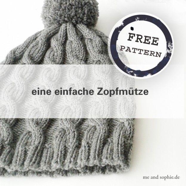 Photo of einfache Zopfmütze – Anleitung – | me and sophie