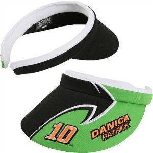 NASCAR Chase Authentics Danica Patrick Ladies Side Draft Slide-On Visor - Black/Green by Football Fanatics. $17.95. Terry cloth inner lining. Quality embroidery. One size fits most. Curved bill. Driver's name and number. Chase Authentics Danica Patrick Ladies Side Draft Slide-On Visor - Black/GreenCurved billTerry cloth inner liningImportedDriver's name and numberOfficially licensed NASCAR productQuality embroidery100% CottonOne size fits most100% CottonQuality embroider...
