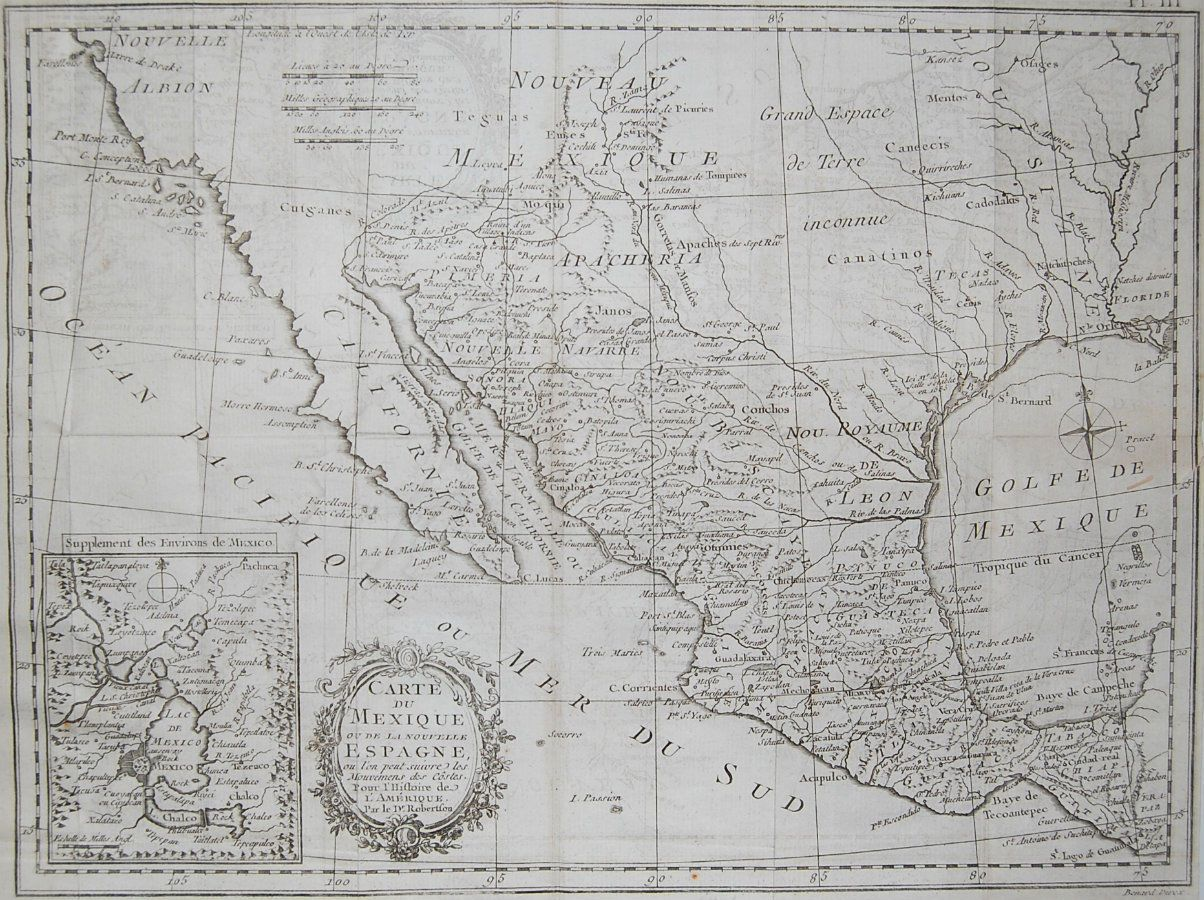 ORIGINAL Kitchin Map Of Mexico Southwest US Texas New - South west us map