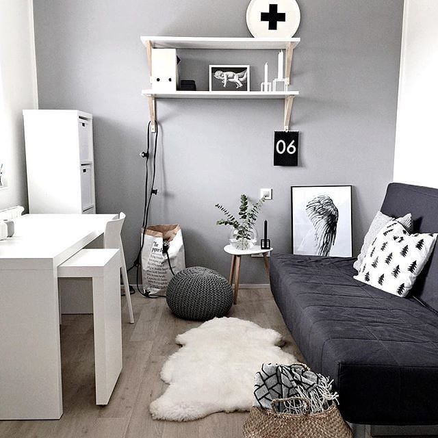 Small Room Idea With Sofabed Sofa Bed Dapat Diaplikasikan Di Dalam Ruangan Yang Sempit Selain Me Guest Bedroom Office Small Guest Rooms Home Office Design