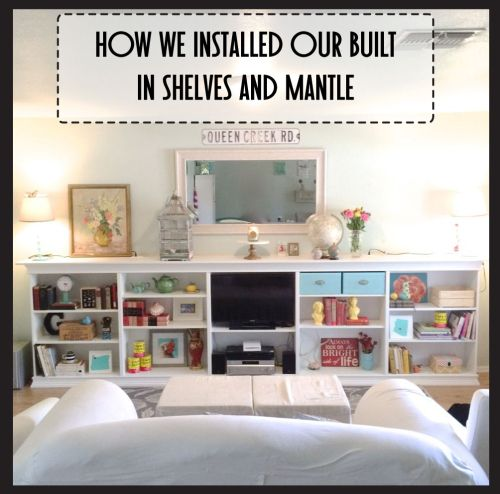 How We Made Our Own Built In Shelves And Mantle Using IKEA Billy Bookcases Again
