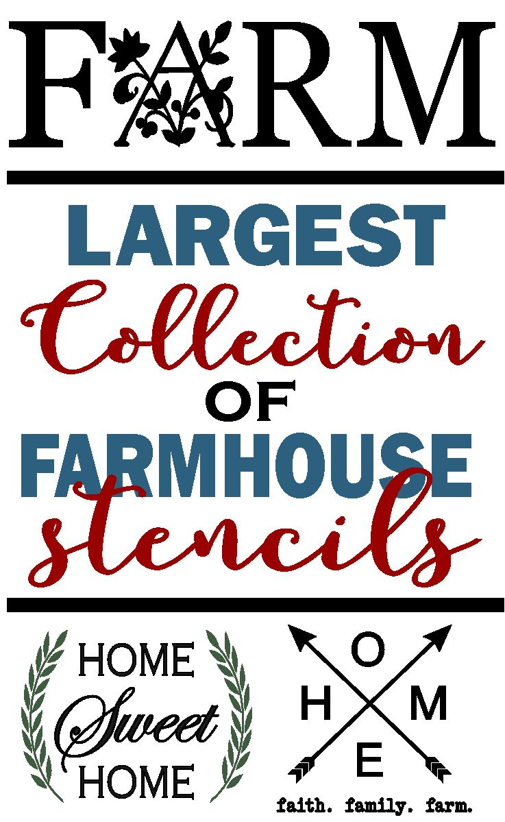 Love The Magnolia House Farmhouse Style Our Stencil Collection 30 Farmhouse Stencil Designs Is An Inexpe Farmhouse Style Decorating Stencil Patterns Stencils