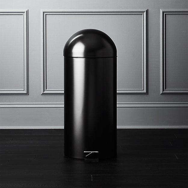 Brushed Black Step Trash Can In 2019