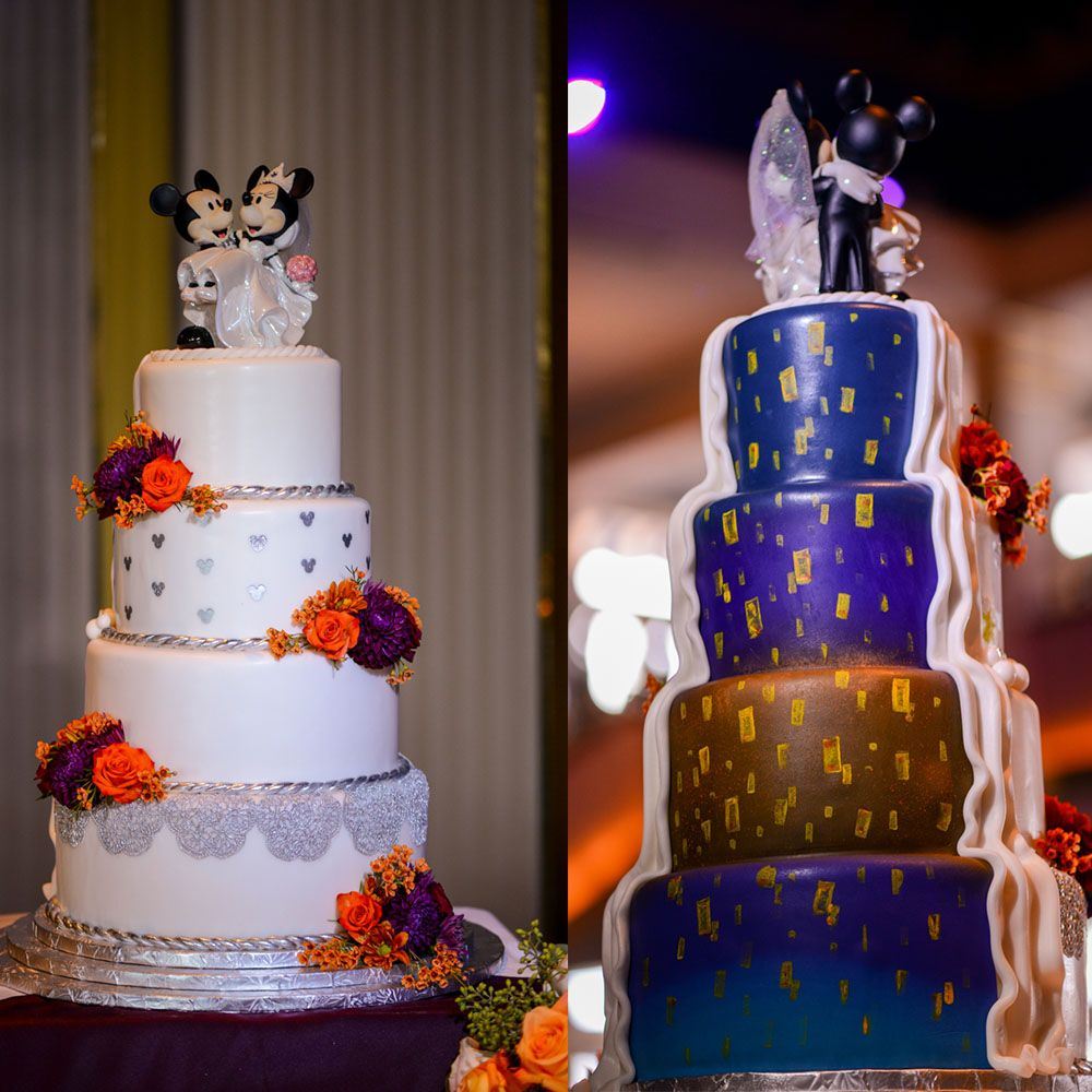 Wedding Cakes Inspired By China Patterns: A Tangled Inspired Surprise Behind This Towering Four Tier