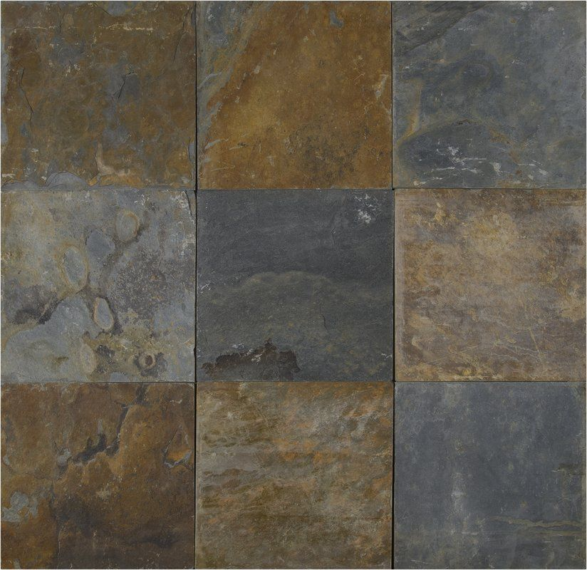 California 12 X 12 Slate Field Tile In Multi Slate Tile Floor Slate Tile Slate Flooring