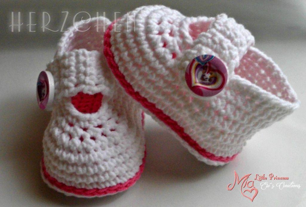 Photo of Anleitung Schühchen 1 #crochetbabyshoes Masche nun wie folgt häkeln: