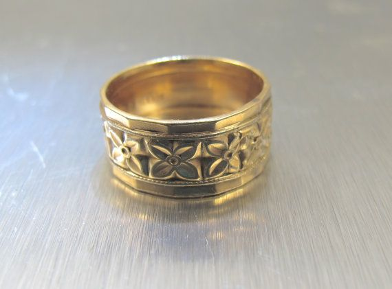 Victorian Wedding Band Ring Cigar Band For Me Not Flowers H