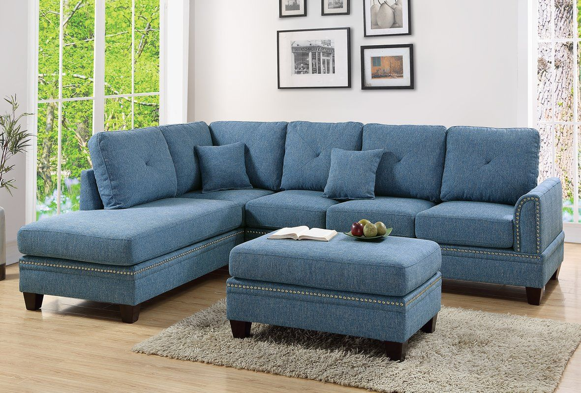 David Reversible Sectional with Ottoman | There\'s no place ...