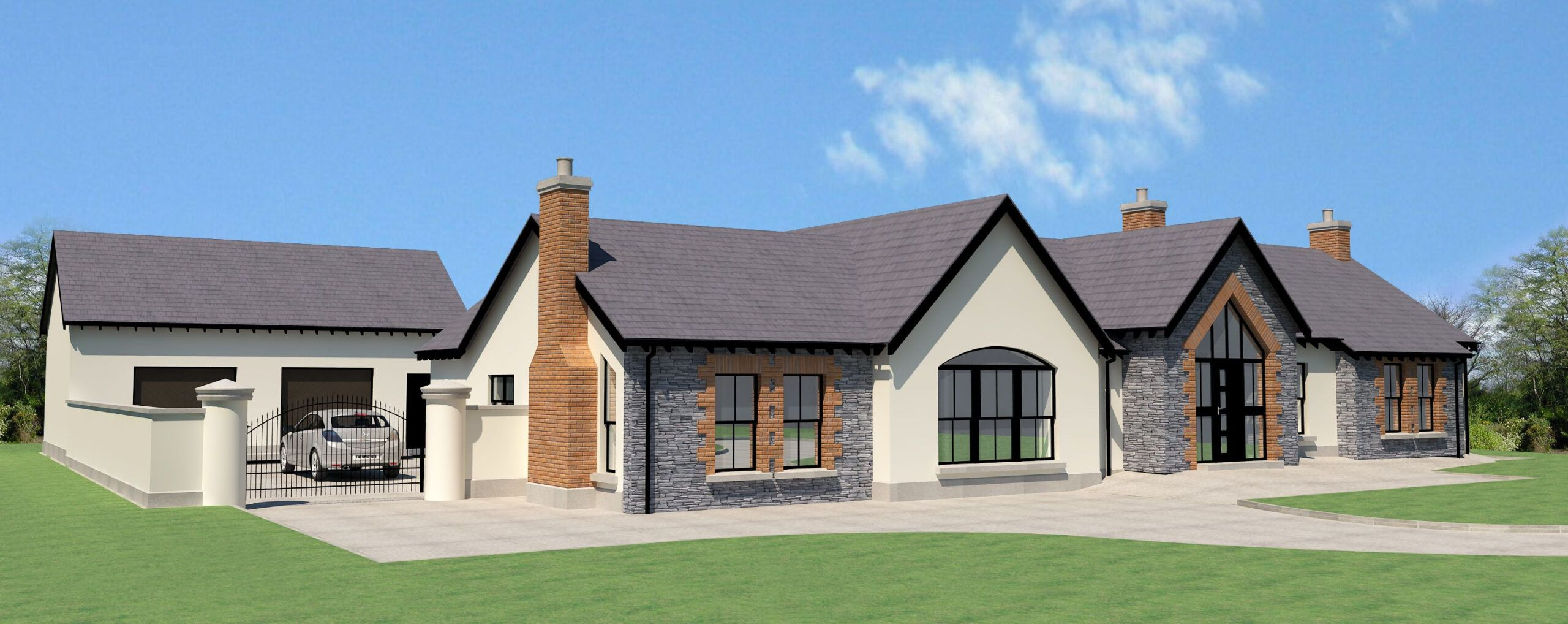 4 Bed Bungalow House Plans Ireland In 2020 House Designs Ireland Modern Bungalow House Irish House Plans