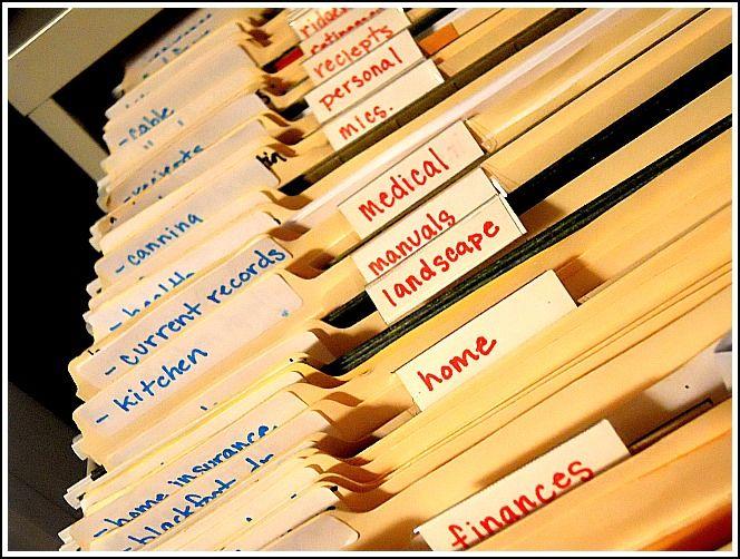 My Organized Files Simple Organized Living Organizing Paperwork Paper Organization File Organization