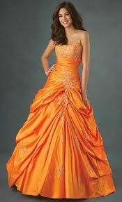 "orange ""bridesmaid dress""... just throwing it out there... lol"