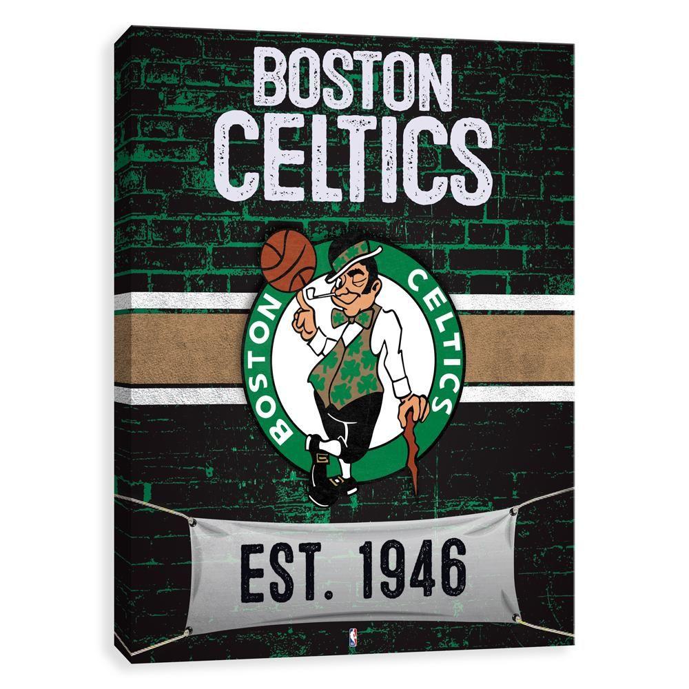 Boston Celtics Brickyard Canvas Wall Art Canvas wall art